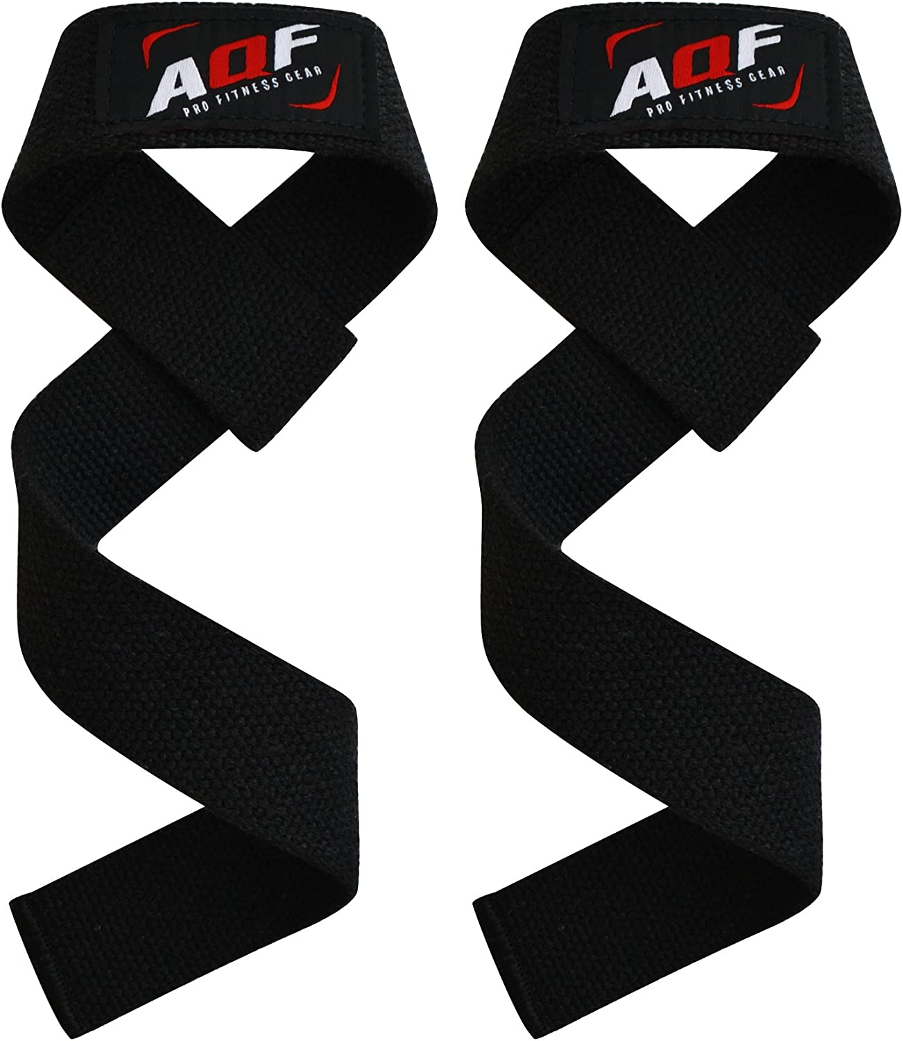 AQF Leather Weight Lifting wrist Straps Pair For Barbell Bar WeightLifting DE