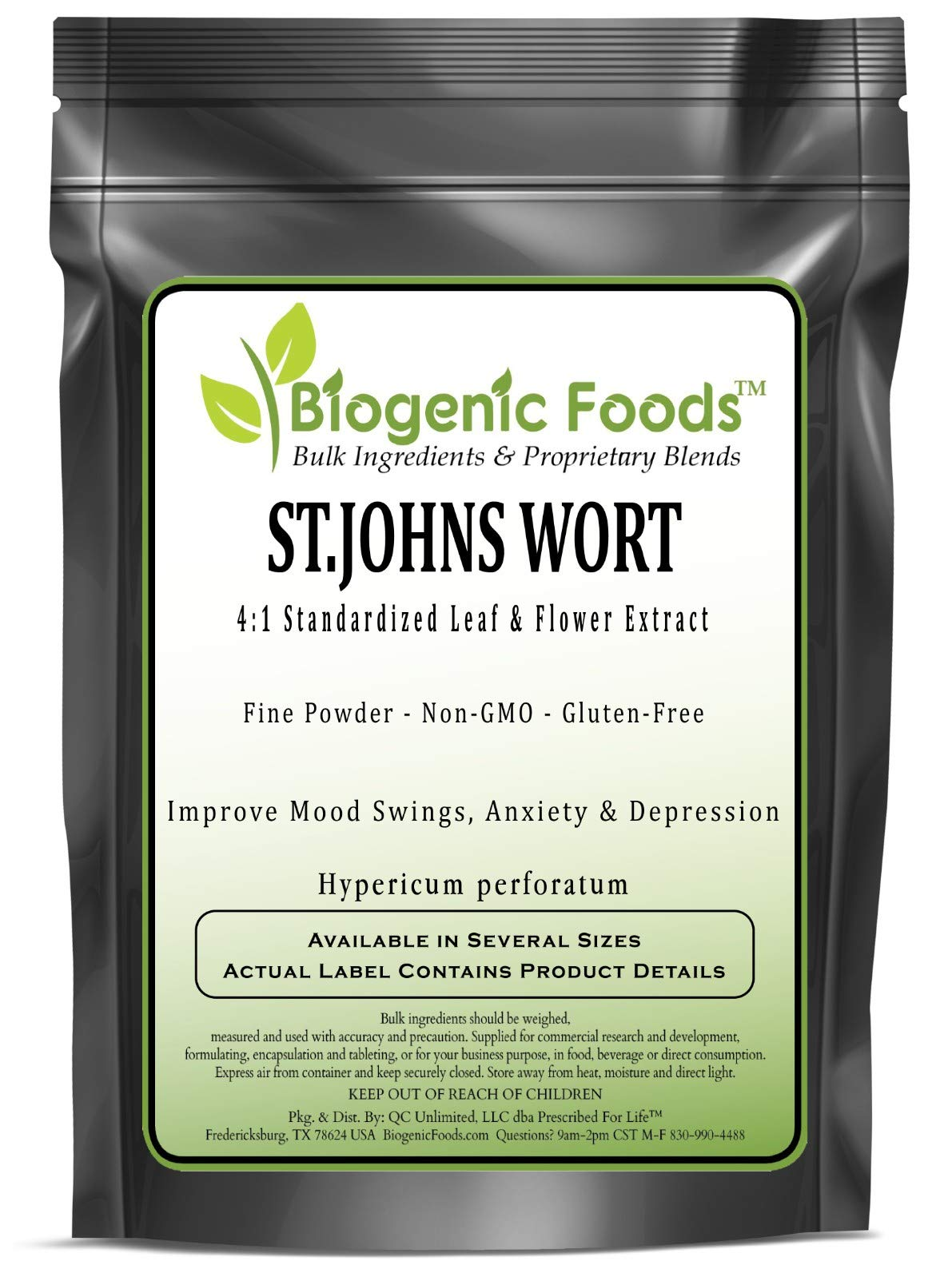 St.Johns Wort - 4:1 Standardized Leaf & Flower Fine Powder Extract (Hypericum perforatum), 2 kg