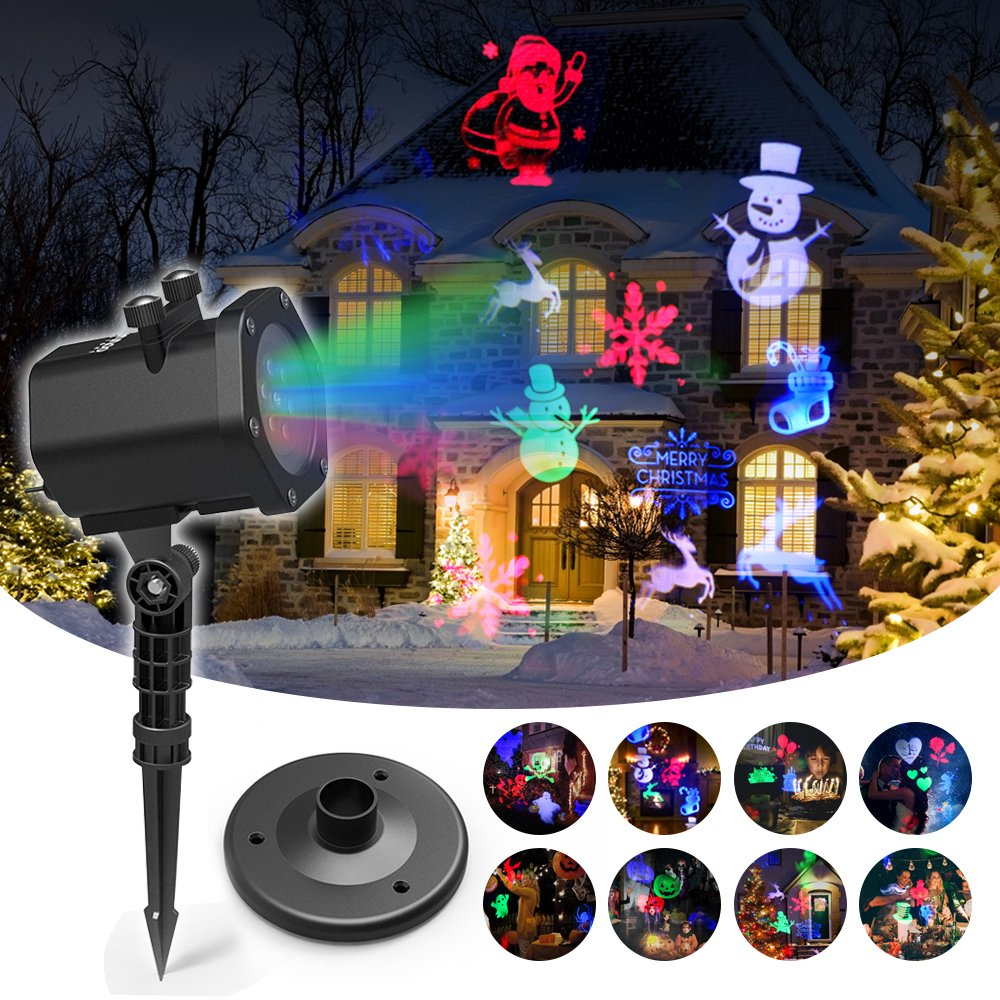 Christmas Projector Lights, InnooLight Waterproof 15 Patterns Light Show, Holiday Lights Decoration for 5 Different Themes- Halloween, Christmas, Birthday, Valentine's Day, Easter, Carnival Valentine's Day Innoo Tech IN3-A004
