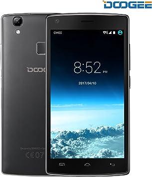 Móviles y Smartphones Libres, DOOGEE X5 MAX Teléfono Móvil Libre Baratos (MTK6580 Quad Core, 5.0 Pantalla HD LCD, 8GB ROM, 8MP Cámaras Duales, Huella Dactilar, Gesto Inteligente, Android 6.0, Dual SIM): Amazon.es: