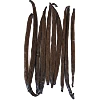 Native Vanilla Grade A Tahitian Vanilla Beans – 10 Premium Gourmet Whole Pods – for Chefs and Home Baking, Cooking…