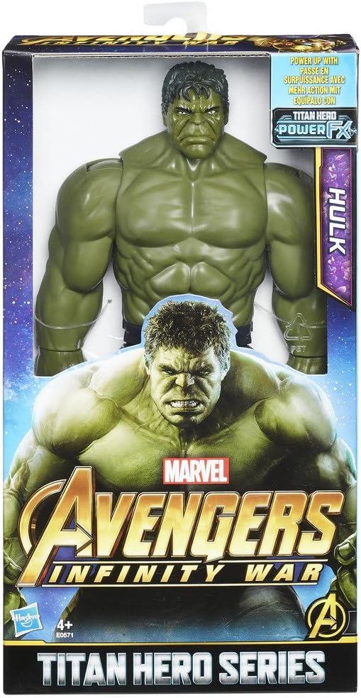 Marvel- Hulk with Titan Hero Power FX Port Series, Color Azul, Verde (Hasbro E0571EU4)