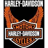 "Harley Davidson Orange Wings Super Plush Throw Blanket Queen 76\""x94\"""