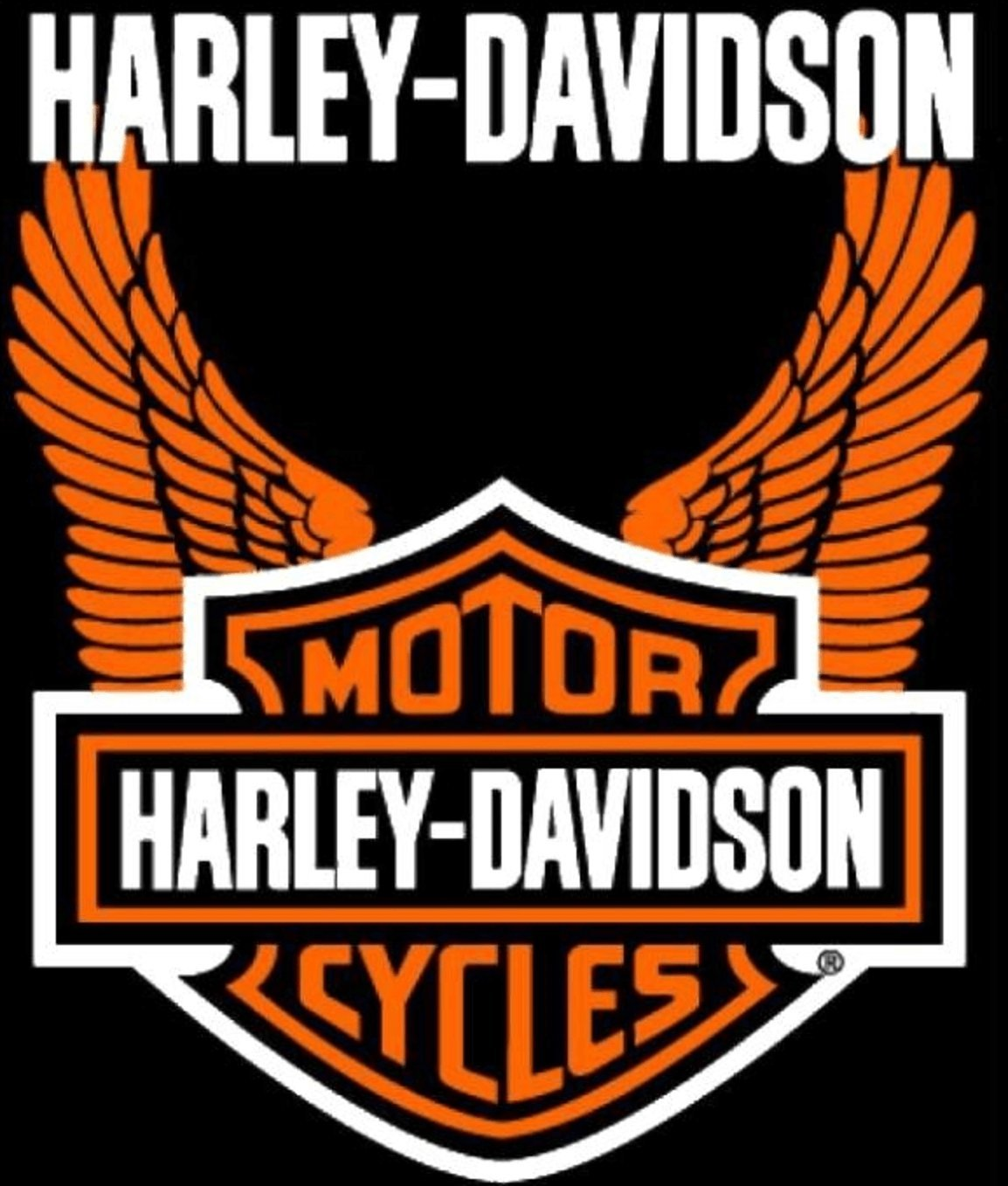 Harley Davidson Orange Wings Super Plush Throw Blanket Queen 76