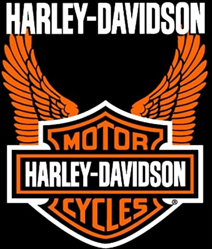 Amazon Harley Davidson Orange Wings Super Plush Throw Blanket Unique Harley Davidson Blankets And Throws