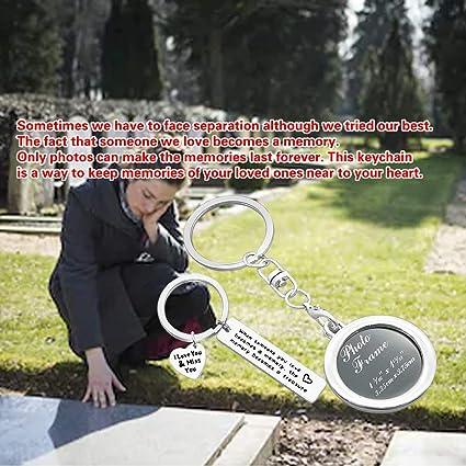 Amazon.com: Llavero con marco de fotos conmemorativo «When ...