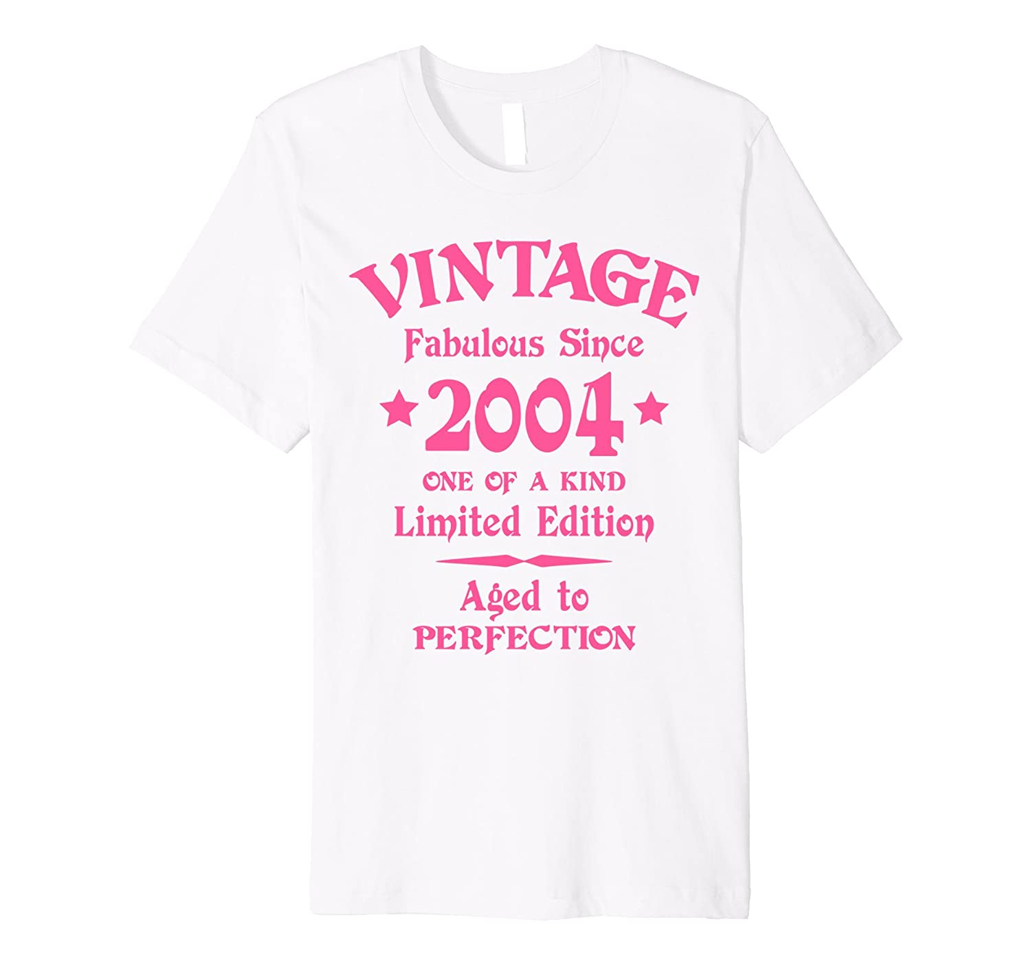 13th Birthday Gift T-Shirt Vintage 2004 Pink Fitted-CD