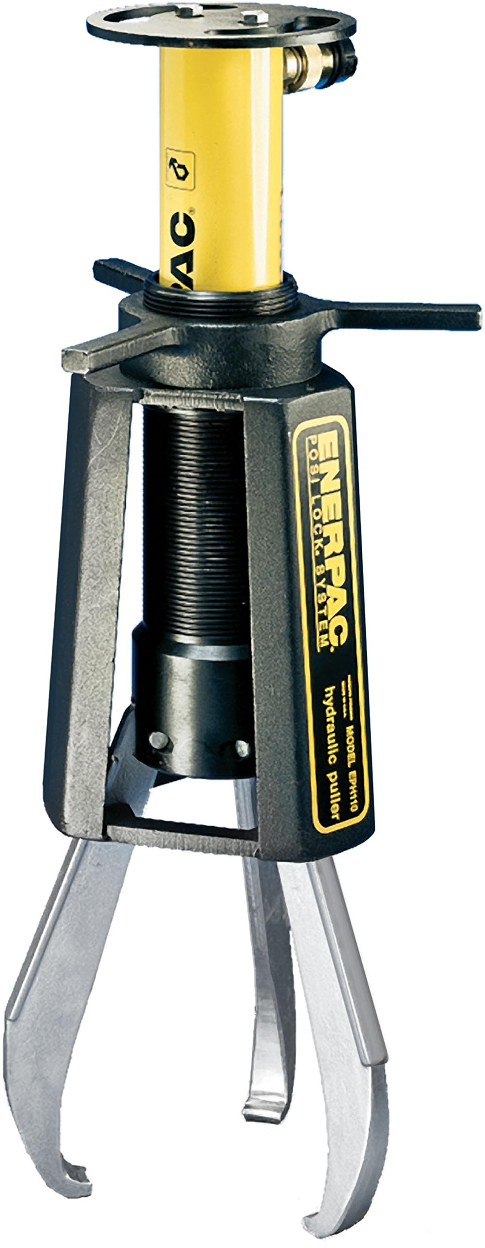 Enerpac EPHR-108 10-Ton Capacity Hydraulic Grip Puller Set with Cylinder and Three-Arm Jaw, 0.75''-12'' Reach