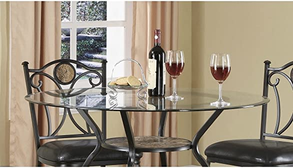 Coaster Home Furnishings Round Glass Top Tempered, Clear