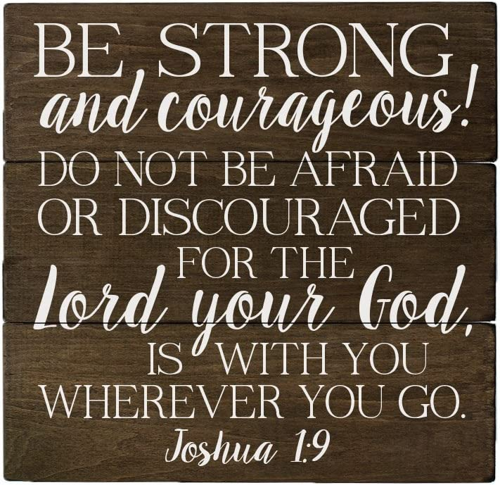 Elegant Signs Joshua 1 9 Be Strong and Courageous Bible Verse Art