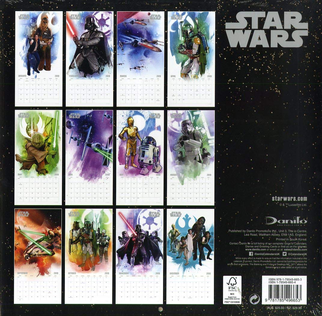 Star Wars Classic Official 2019 Calendar - Square Wall Calen ...