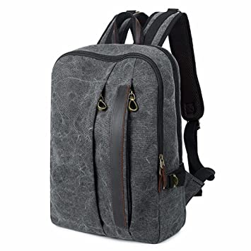 65893aadd2327 DIUDIU 14 Zoll Computer Tasche 2018 Leinwand Student Rucksack Trend Männer  wasserdicht Rucksack