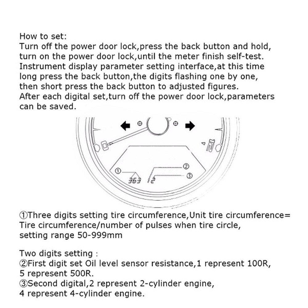 IZTOSS MPH/KMH 124MPH/199kmh 12000 rpm LCD Digital Speedometer