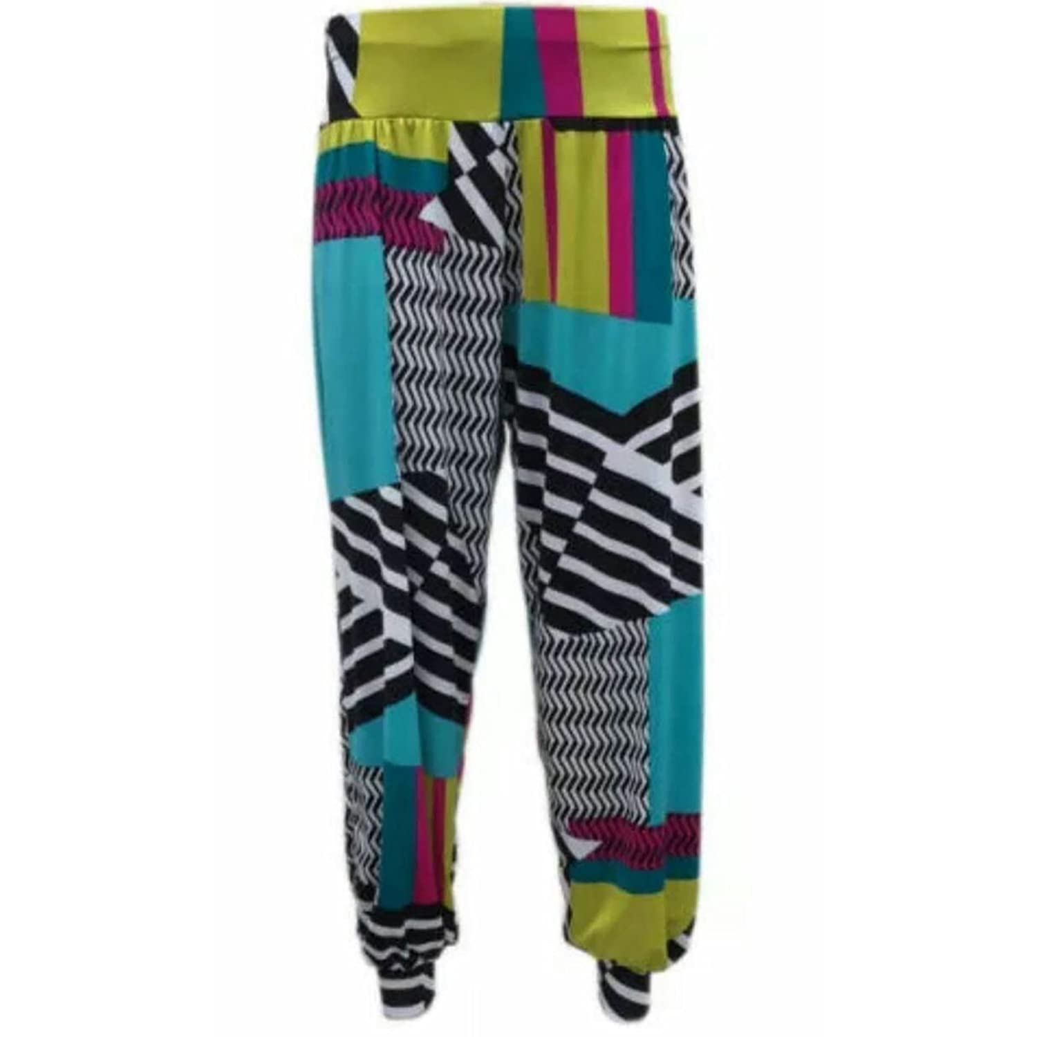 3cb77587cc4 (FF11) Ali Baba Printed Aladin Harem Pants Loose Baggy Trousers Plus Size   UK 8-26   Amazon.co.uk  Clothing