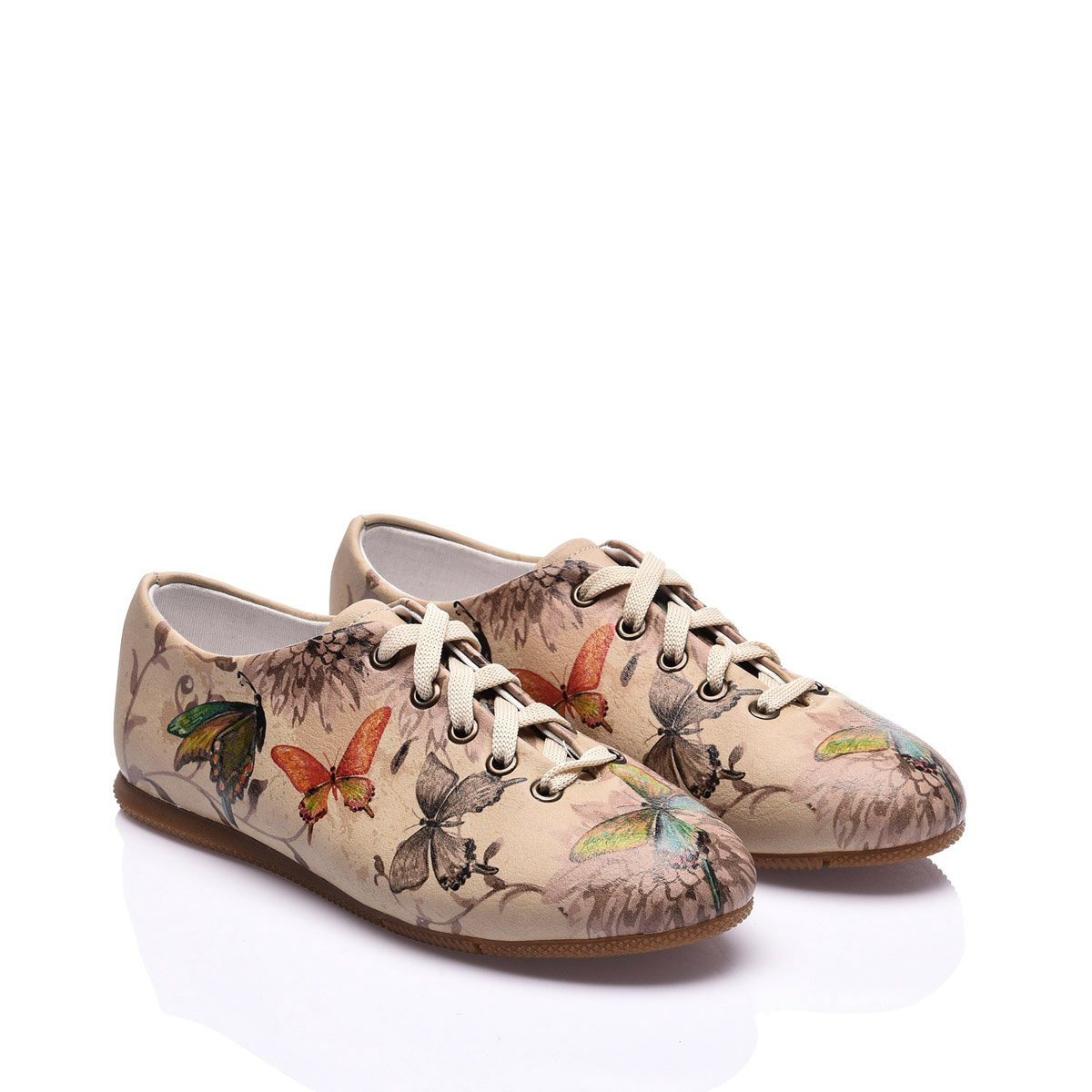Streetfly Oxford Shoes for Women (7.5 B(M) US / 38 M (EU), Printed - Colourful)