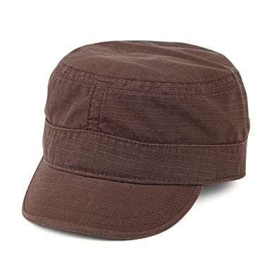 e8dc49ec7f Goorin Bros. Private Cadet Army Cap - Brown X-LARGE  Amazon.co.uk  Clothing