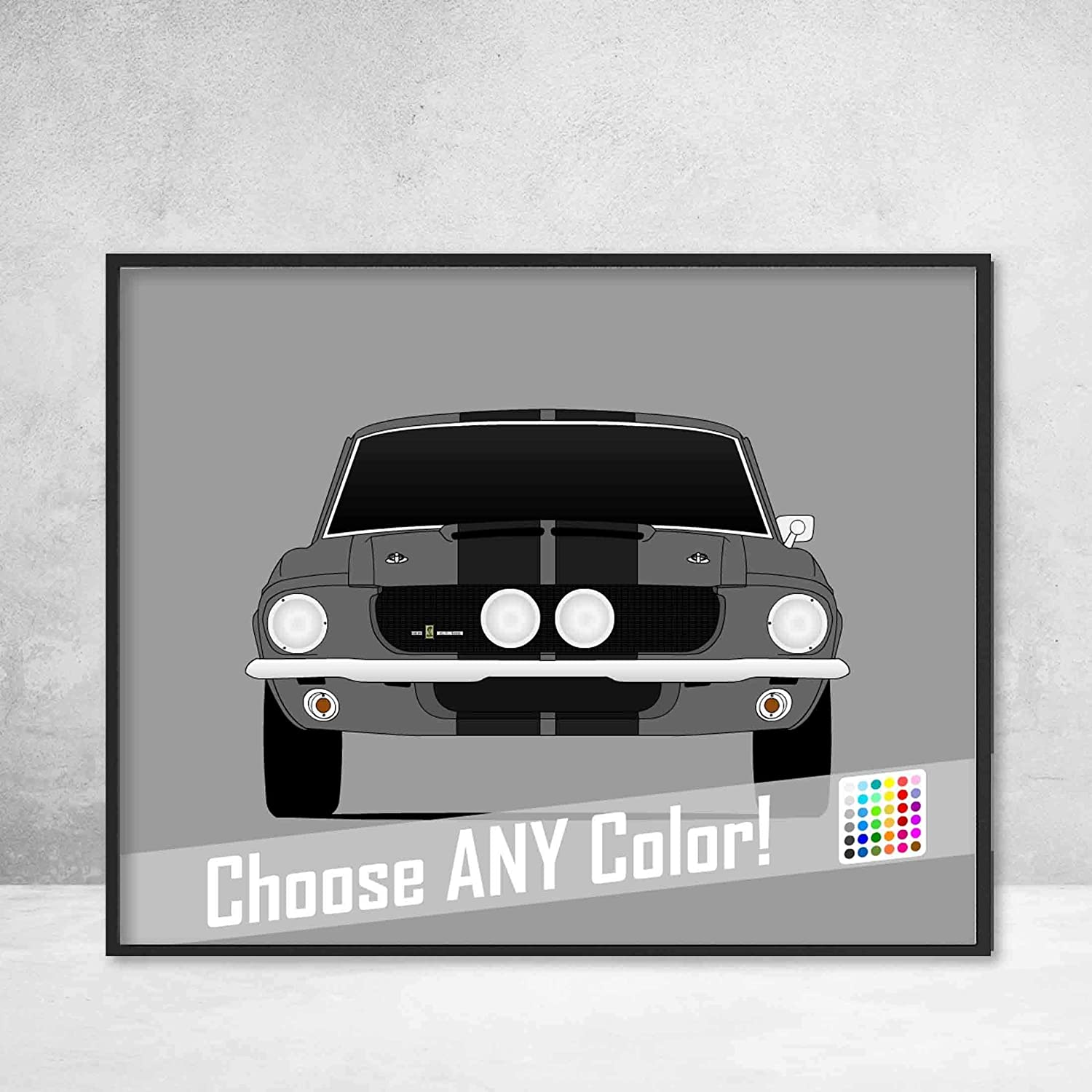 Amazon com: Ford Mustang 1967 Shelby GT500 Cobra Poster