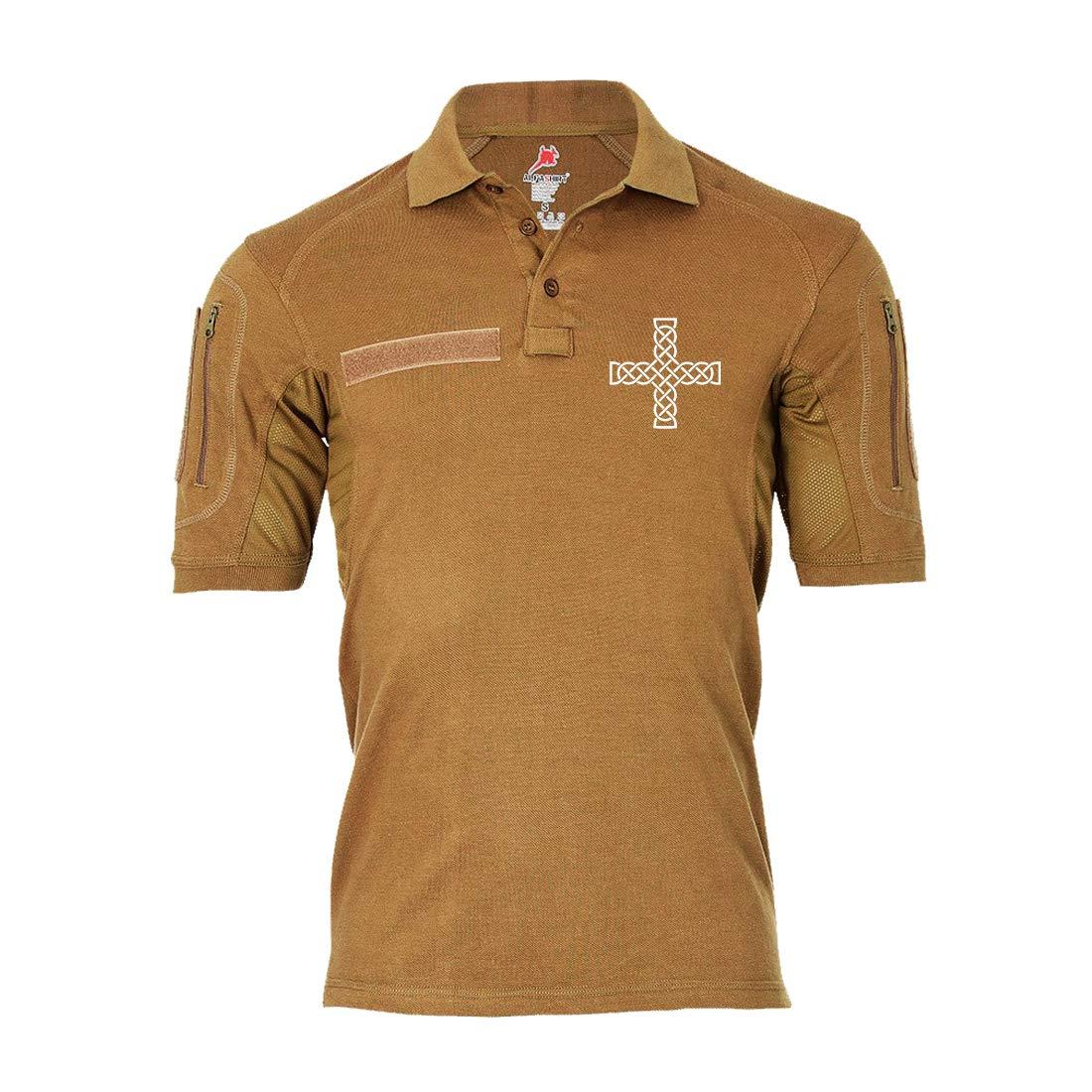 Copytec Tactical Poloshirt Alfa Keltisches Keltenkreuz Hoch irisches #19370