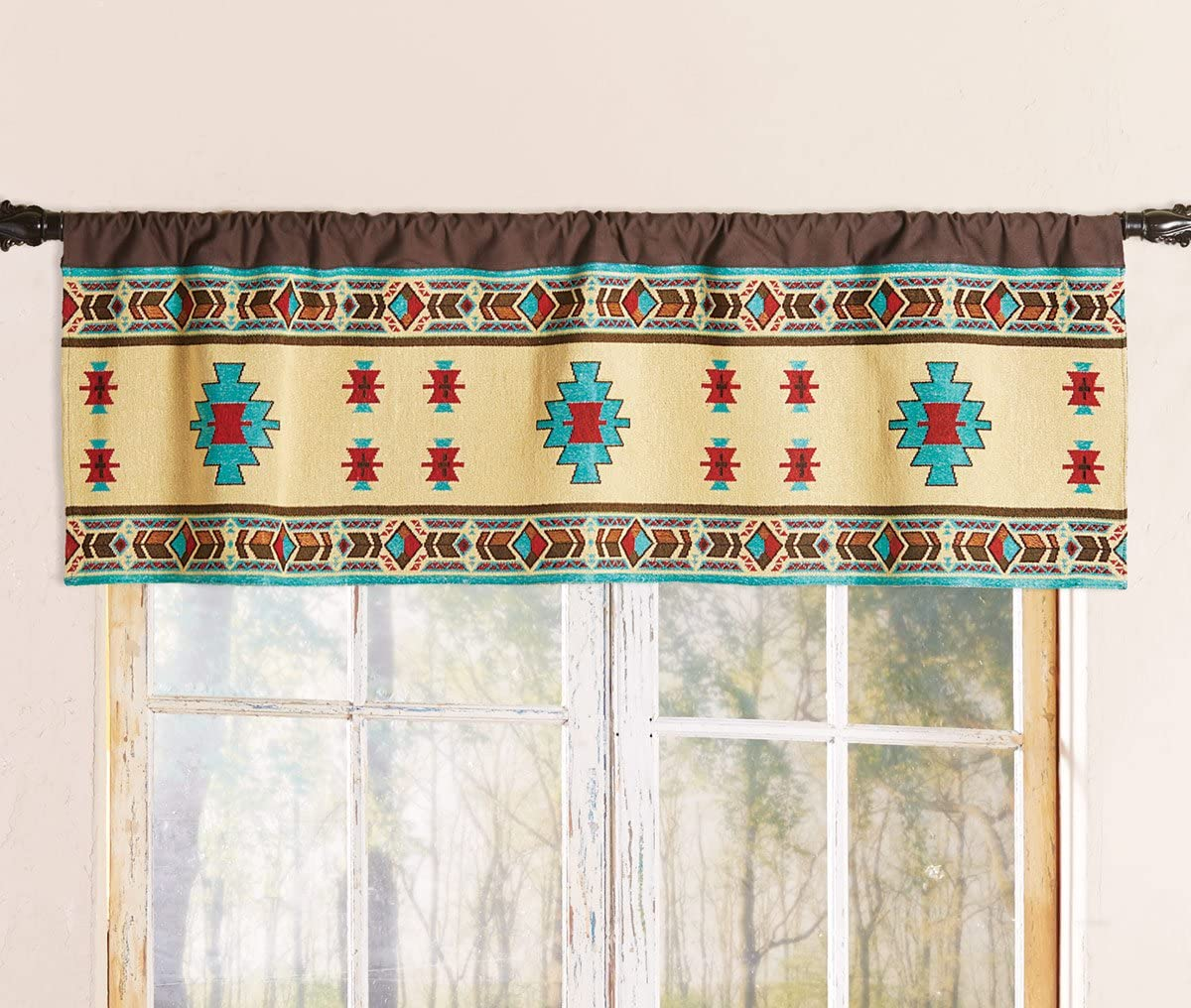 Black Forest D cor Desert Jewel Lined Valance