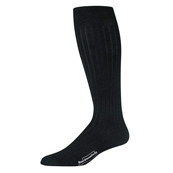 5d9c97d2118e Boardroom Socks Men's Merino Wool Over-the-Calf Ribbed Dress Socks (Black):  Amazon.ca: Clothing & Accessories