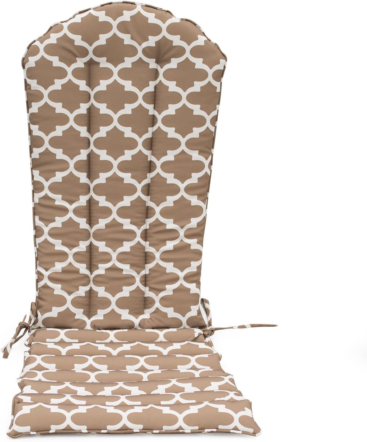 Home Improvements Neutral Taupe White Moroccan Trellis Outdoor Patio Adirondack Chair Cushion Seasonal Replacement Pad