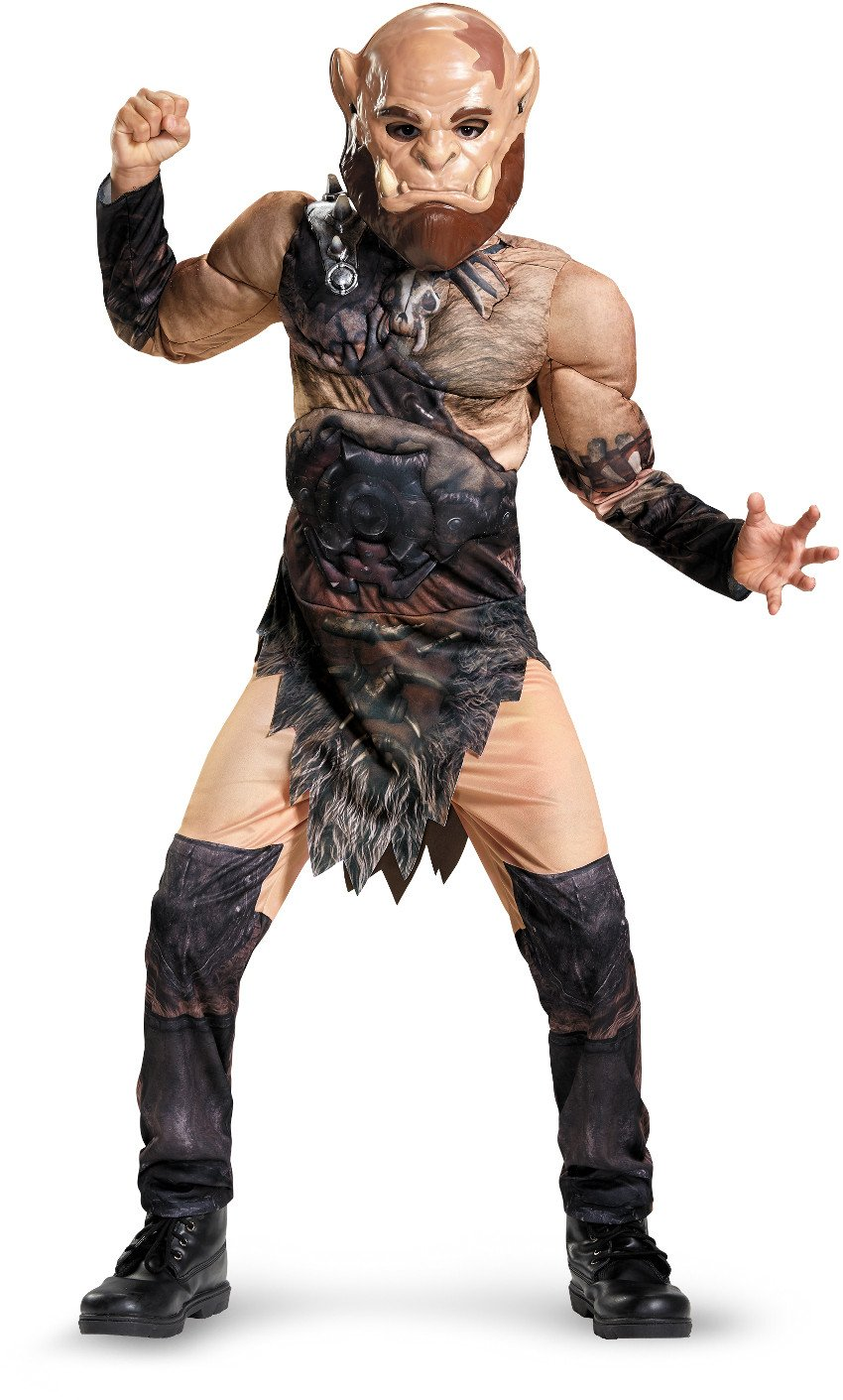 Orgrim Classic Muscle Warcraft Legendary Costume, X-Large/14-16