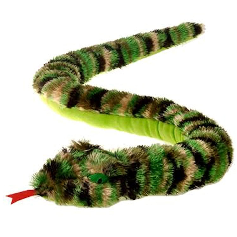 61 SG/_B00QOEA5GK/_US Large Camouflage Camo Shaggy Snake Plush Stuffed Animal Toy by Fiesta Toys