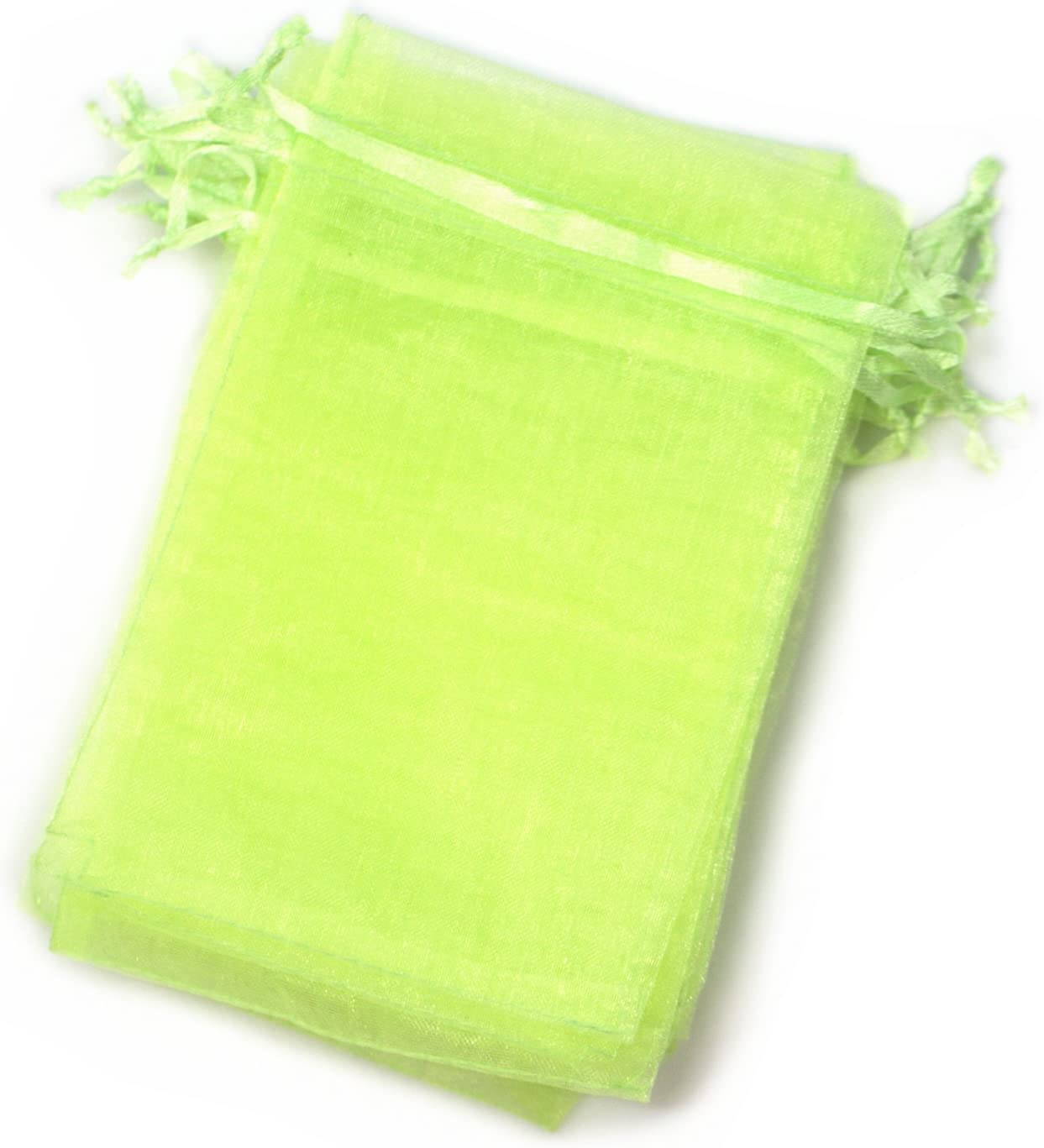 EDENKISS Brand Quality Drawstring Organza Jewelry and Accessory Pouch Bags (2.8x3.6, Apple Green)