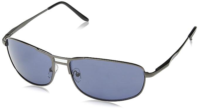 ANTONIO MIRO Gafas Hombre - UV400 metálicas ligeras - Lentes solares elegantes con Funda Rígida Cremallera - Satisfacción Garantizada!
