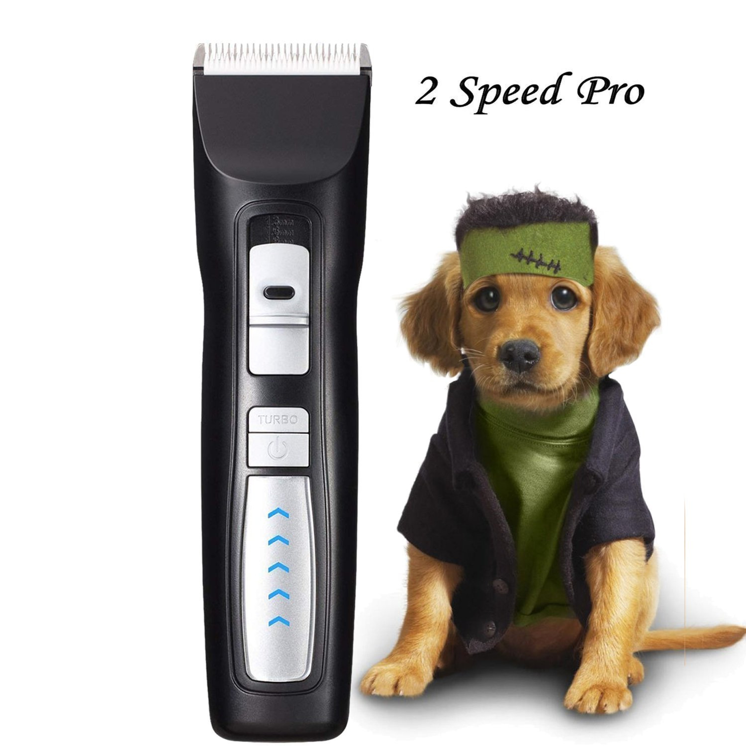 Pet Grooming Clippers, Rision Cordless Dog Clippers, 2 Speed(5500 RMP, 6500 RMP) Low Noise Professional Rechargeable Pet Clippers with Power Indicator for Cats/Dogs/Rabbits/Horses