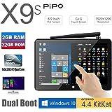 """TOZO PIPO X9s 32GB Mini Computer 8.9"""" 1920x1200 PC TV Box Desktop Intel Z8350 Quad Core Windows10 Android 4.4 Kikat Dual Boot Mini PC 2GB RAM 32GB ROM"""