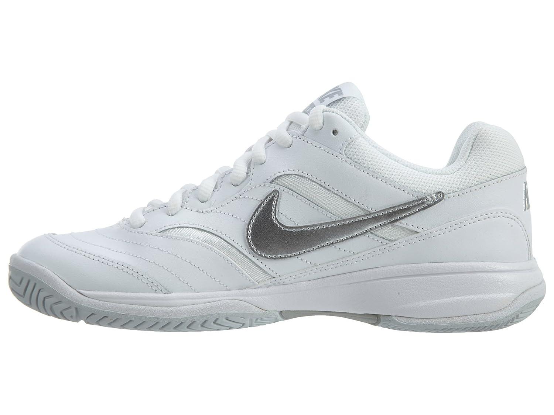 watch 31ffe ccf9c ... NIKE US White Metallic Women s Court Lite Tennis Shoe B01A67T8RW 7 M  US  ...