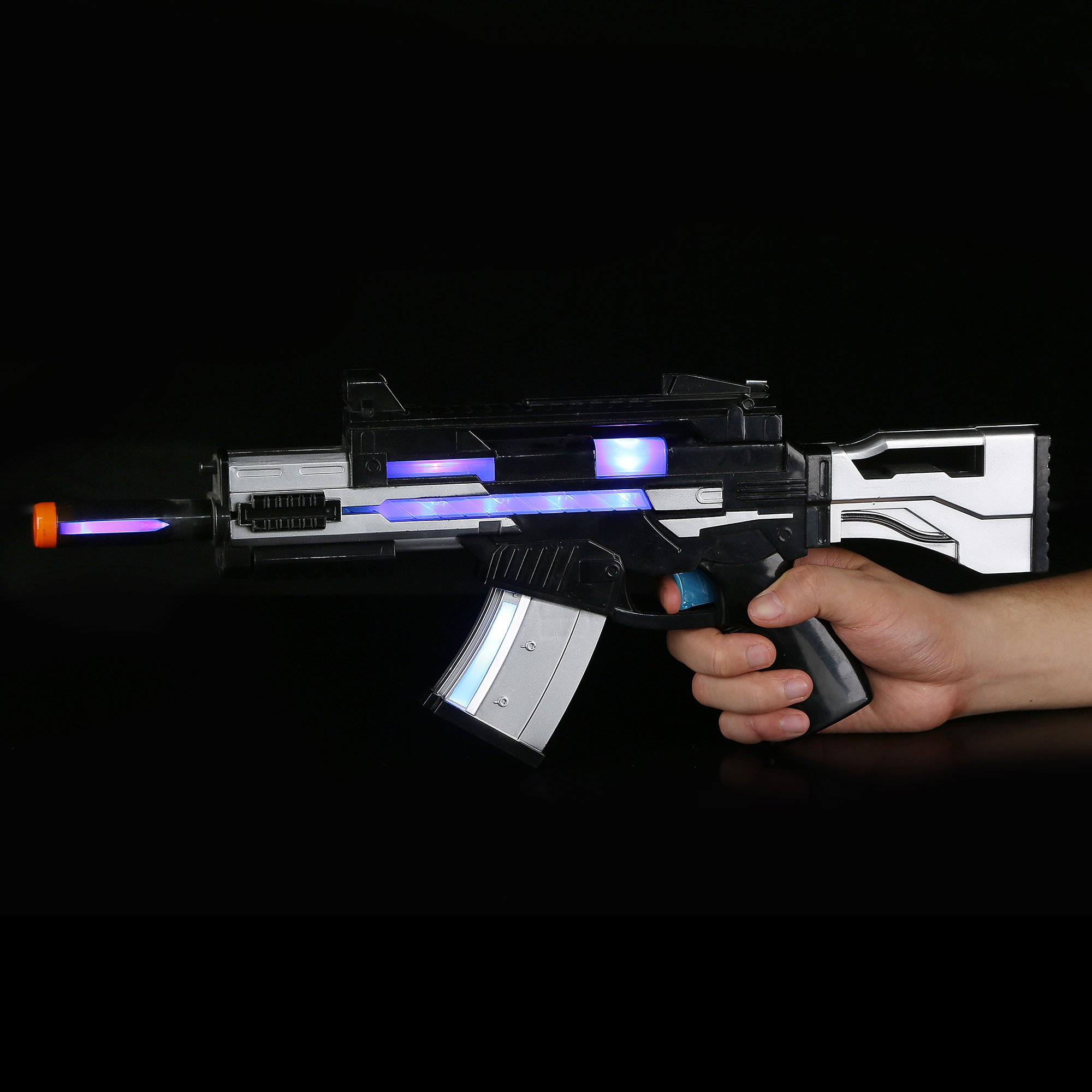 Fun Central AU491 17 Inch LED Light Up SW Blaster with Sounds Effect, LED Blaster Toy Gun, Light Up Blaster Gun for kids, Blaster Gun - for Party Favors, Gifts, Prizes, Rewards, Giveaways by Fun Central (Image #2)