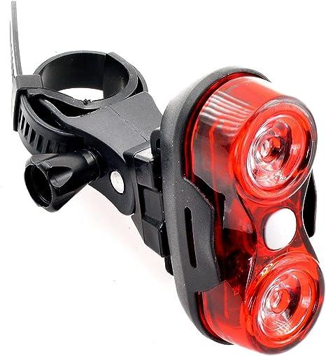 Piloto Luz Foco Doble Alta Potencia Rojo LED para Bicicleta 3 ...
