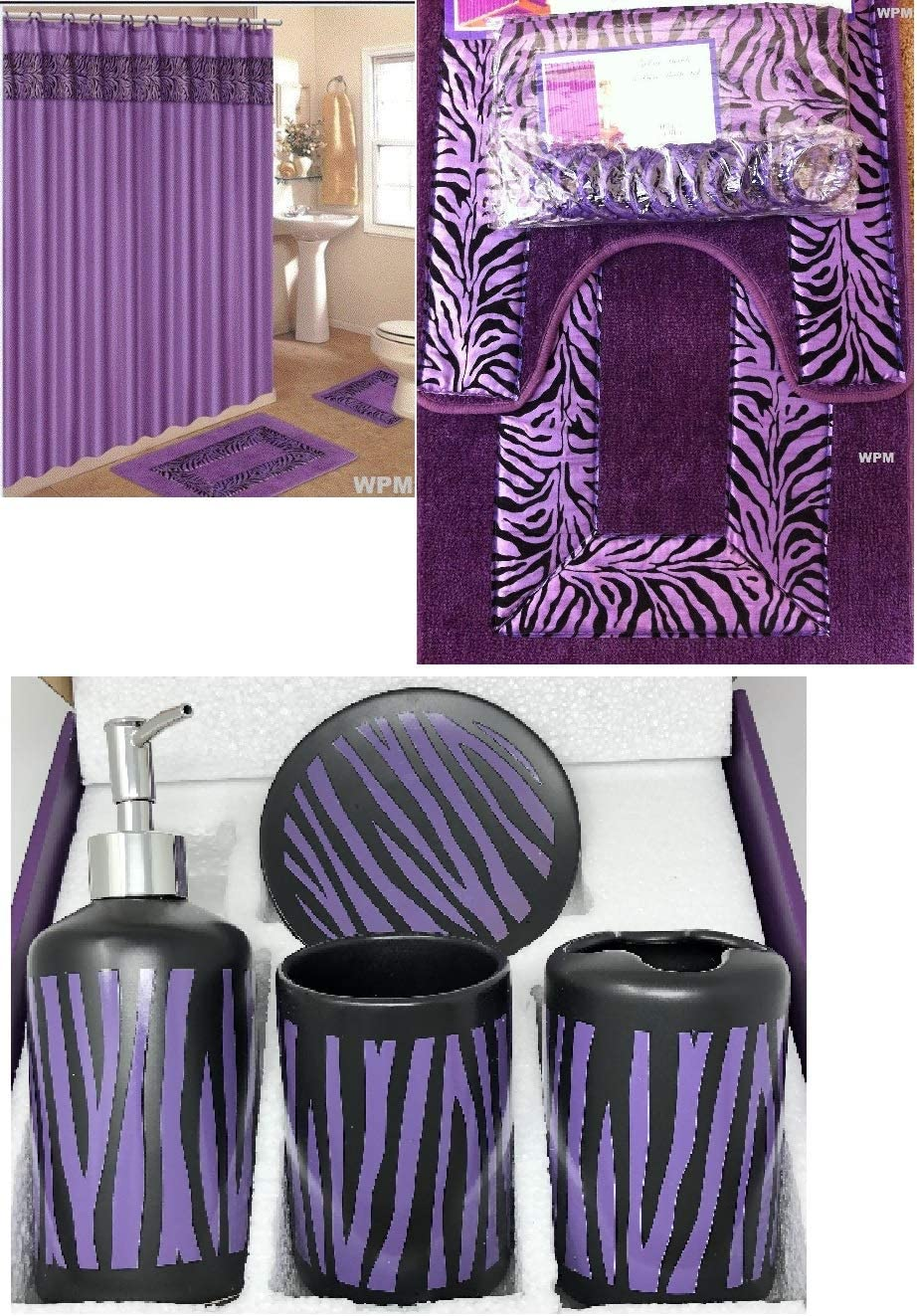 Bathroom Mat Shower Curtain Waterpoof African Woman Fruit Baskets on the Heads