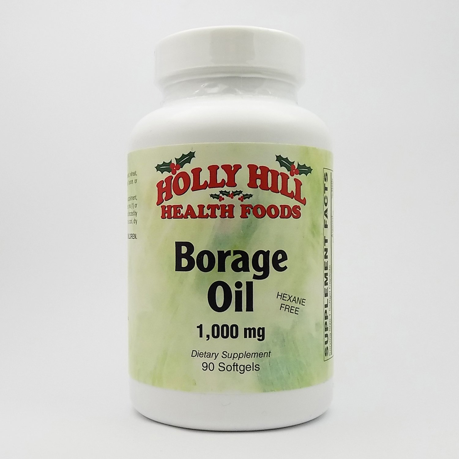 Holly Hill Health Foods, Borage Oil, 1000 MG, Hexane Free, 90 Softgels