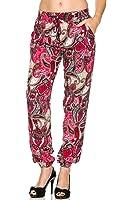 2LUV Women's Tailored Harem Track Pants W/ Zipper Pockets