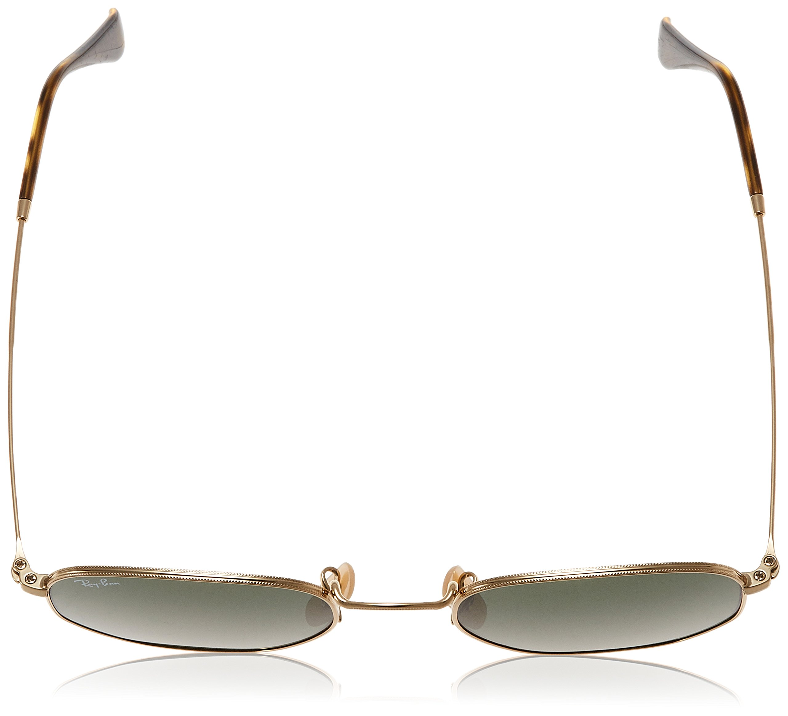 Ray-Ban Unisex RB3548N Hexagonal Sunglasses - Gold Frame Green Lenses, 51 mm by Ray-Ban (Image #4)