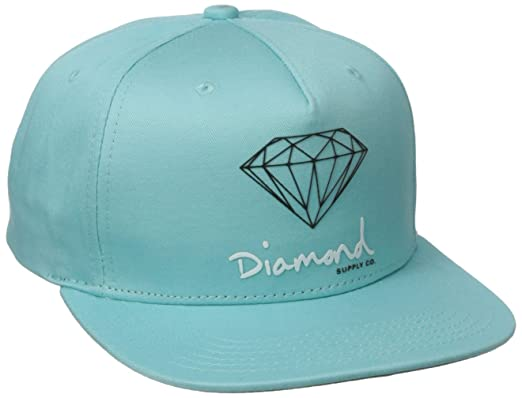 604c9bbda04abd Diamond Supply Co. Men's Og Script Snapback, Diamond Blue, One-Size ...
