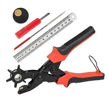 Cinturón agujero perforadora, ballery profesional resistente alicate Sacabocados para piel 2.0 - 4,5 mm: Amazon.es: Bricolaje y herramientas