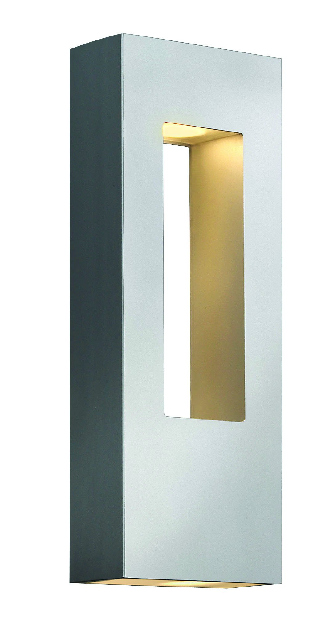 Hinkley 1648TT Contemporary Modern Two Light Wall Mount from Atlantis collection in Pwt, Nckl, B/S, Slvr.finish, by Hinkley