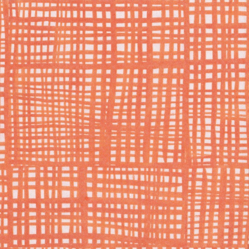 Entertaining with Caspari Raffine Paper Linen Cocktail Napkins (15 Pack), Orange