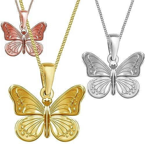Schmetterling Anhänger Halskette 925 Echt Sterlingsilber 38-50cm mit Schmuckbox