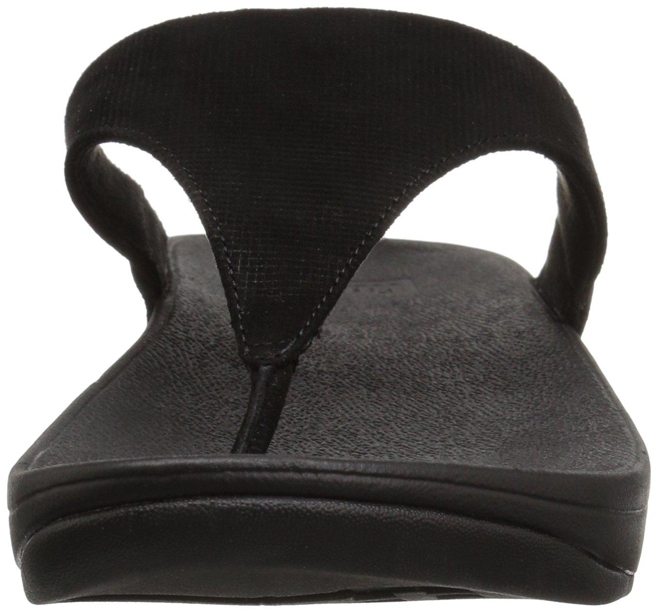 79de6847905 FitFlop Dámské Lulu Toe-Thong 16797 Shimmer-Check Lulu Toe-Thong Sandal  Černá e2c809c - norli.site
