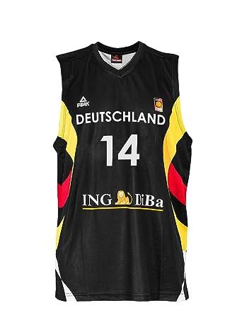 official photos b6bd7 02d50 Peak Sport Europe Men's Dirk Nowitzki Trikot Shirt: Amazon ...