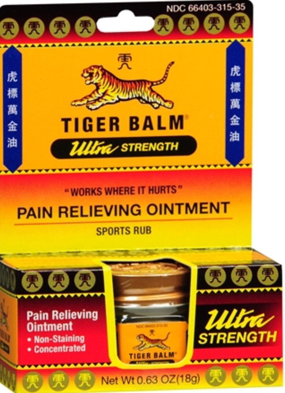 Tiger Balm Ultra Strength 0.63 oz Pack of 24)