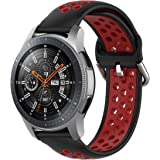 TERSELY Sport Repalcement Band Strap for Samsung Gear S3 / Galaxy Watch 46mm / Watch 3 45mm, 22mm Soft Silicone Bands…