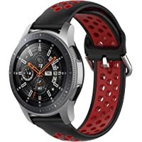 T Tersely Sport Repalcement Band Strap for Samsung Gear S3 / Galaxy Watch 46mm / Watch 3 45mm, 22mm Soft Silicone Bands…