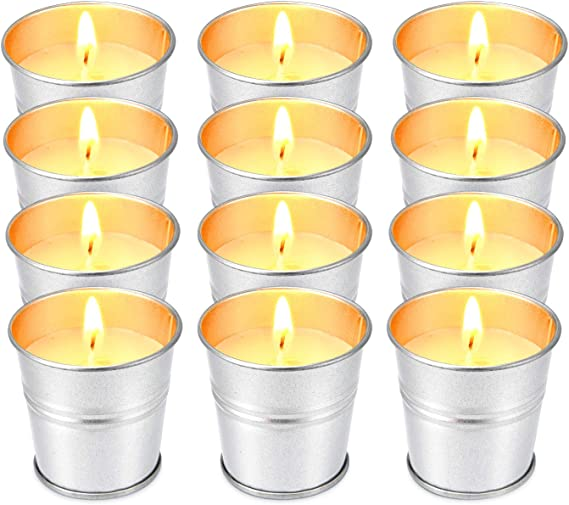 3 Wick Candles 75-80 Hour Burn 14.5 oz Natural Scented Candles Pure Soy Wax Aromatherapy Candle in Portable Travel Tin YiSeyruo Citronella Candles Set Outdoor 3-Pack Gift Set Scented Candles