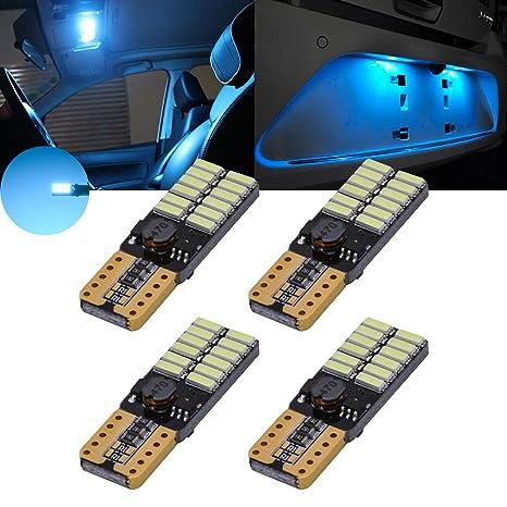 TOOL 10 x ICE BLUE 5SMD LED Dome Map RV Light Bulbs 168 194 T10 W5W 2821 921
